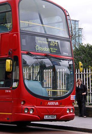 Croydon, London, UK 5th November 2009 red bus of London Public Transport near Croydon Train Station Editorial
