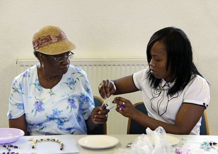 Elevating Success Group, Croydon, London, 13th August 2009 Family jewellery making course for parents and children