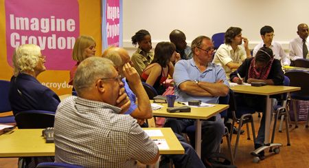 C.V.A. Resource Centre, Croydon, London, UK, 9th September 2009 religious people at the Faiths Together Group Meeting Stock Photo - 6888254
