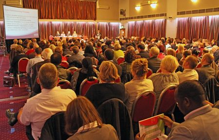 Fairfield Halls, Croydon, London, UK 5th November 2009 people at the Croydon Voluntary Action  C.V.A. Annual General Meeting  A.G.M.