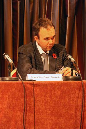 cva: Fairfield Halls, Croydon, London, UK 5th November 2009 Councillor Gavin Barwell, Cabinet Member, at the Croydon Voluntary Action  C.V.A. Annual General Meeting  A.G.M.