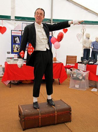comedian: Great Bookham, Surrey, UK 14th February, 2010 a stand up comedian entertainer at a Valentines Day event