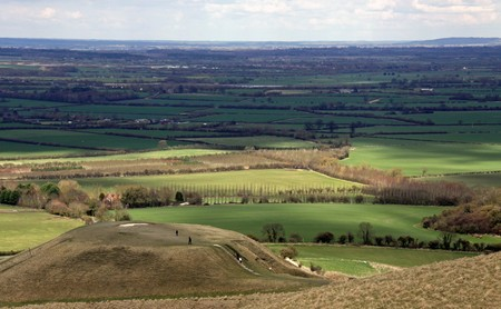 Dragon Hill and the Berkshire Downs from the 3000 year old White Horse Hill