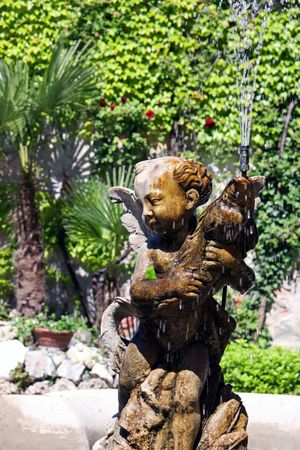 eros: Italian Eros water fountain in a garden