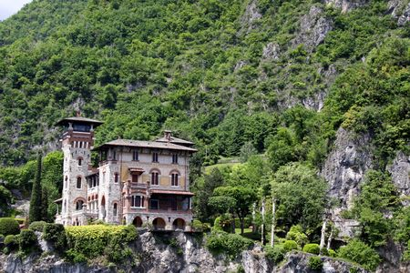 royale: Lake Como, Italy, May 20th 2010, Villa La Gaeta, the famous mountainside house used in the James Bond film Casino Royale Editorial