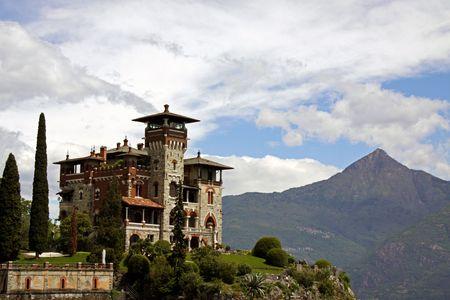 Lake Como, Italy, May 20th 2010, Villa La Gaeta, the famous hillside mansion used in the James Bond film Casino Royale