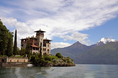 james: Lake Como, Italy, May 20th 2010, Villa La Gaeta, the famous mountainside house used in the James Bond film Casino Royale Editorial