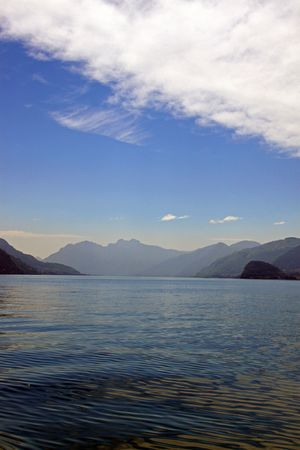 treviso: View of Treviso mountains and Lake Como in Italy