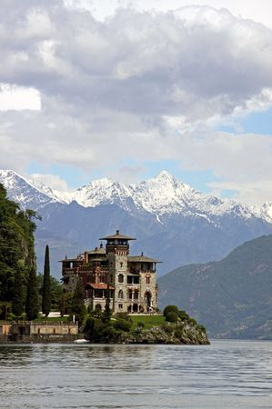 Lake Como, Italy, May 20th 2010, Villa La Gaeta, the famous hillside mansion used in the James Bond film Casino Royale
