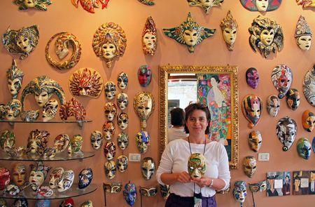 sestiere: Sestiere Castello, Venice, Italy, 21510 the owner of the world famous Papier Mache mask shop