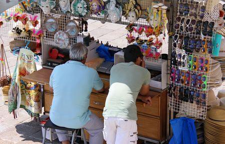papier mache: Venecia, Italia, 21510 vendedores de papier m�scaras de mache que Venecia es famoso por  Editorial