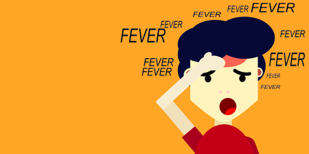fever sick vector Illustration
