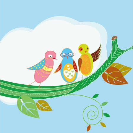 pring: Three birds