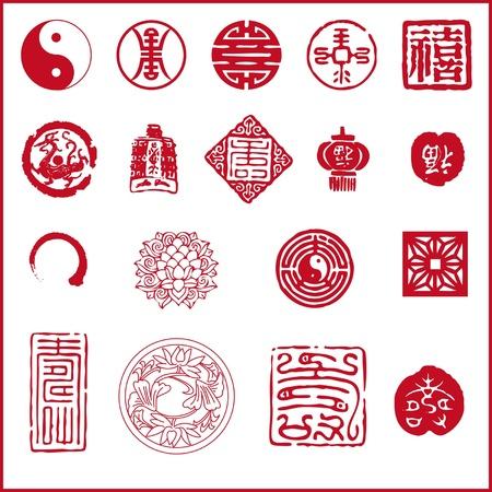 asian culture: Icona del nuovo anno cinese