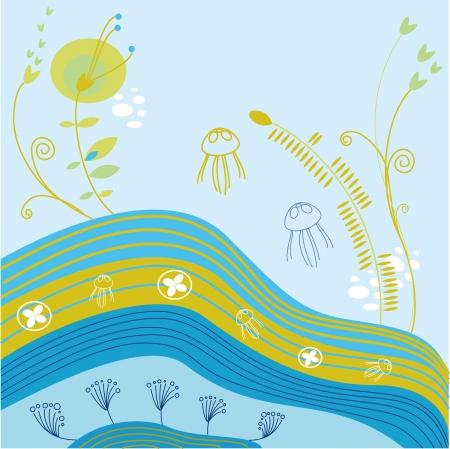 organism: Floral pattern of marine organism