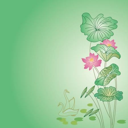 Lotus background Stock Vector - 14298051