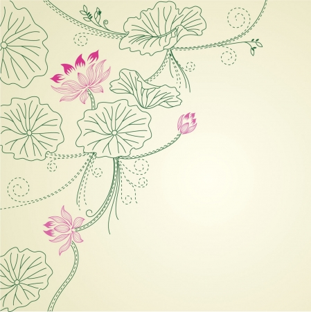 Lotus background Vector