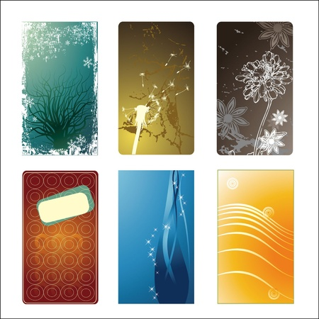 Set of blank business card Stock Vector - 15281741