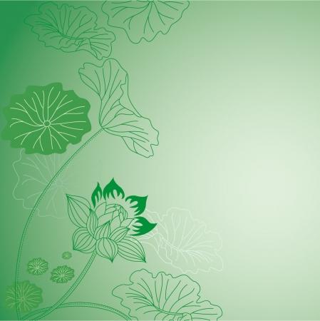 flores chinas: Flor de loto Vectores