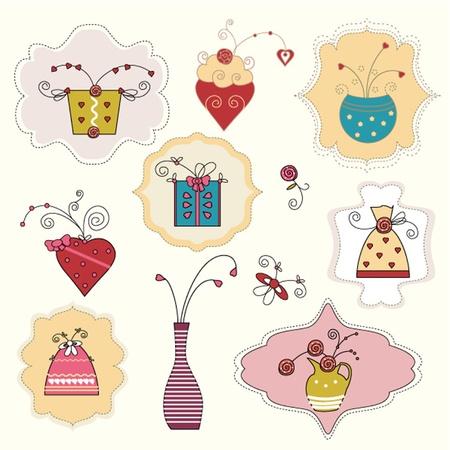 Set of flower pattern