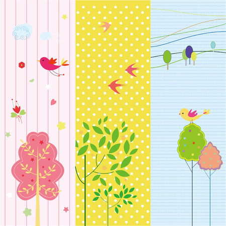 Set of spring and holiday banners Vector