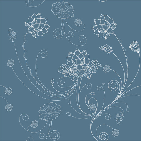 Floral lotus flower pattern background