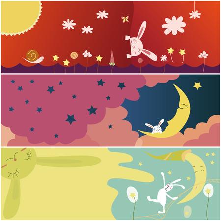 cute rabbit greeting card Vector