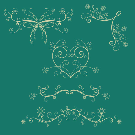 winter holiday: Winter holiday lace and borders
