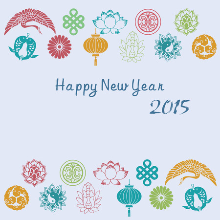 chinese new year element: The Chinese traditional element card, happy new year