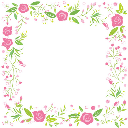 femal: Floral pink flower greeting card