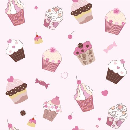 pink cake: seamless pink cake texture Illustration