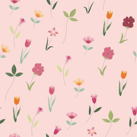 pink flower: seamless pink flower background Illustration