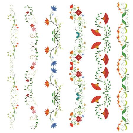 beautiful flower: beautiful flower frames Illustration