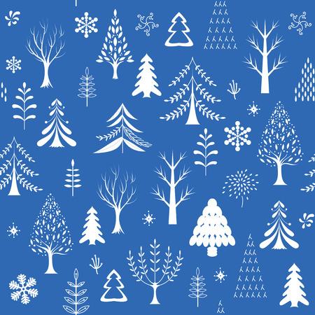 year profile: winter background