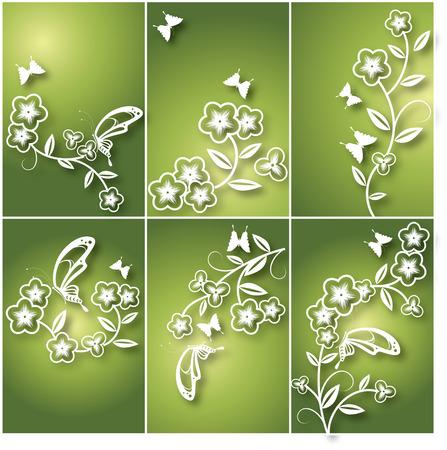 fleur et papillon carte