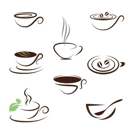 차와 커피 아이콘