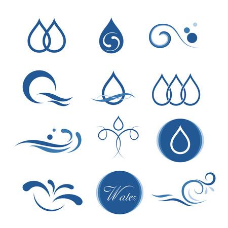 water icon design Illustration