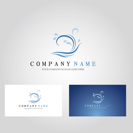 water moire icon cards, company cards Illustration