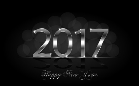 argent: Happy New Year 2017. Background with silver sparkling texture. Vector Illustration Illustration