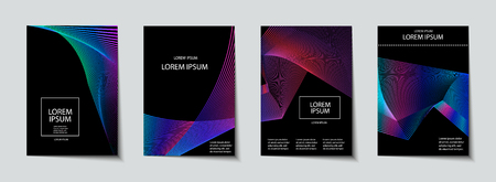 Trendy Covers set. Abstract, geometric, halftone pattern. Simple shapes with Modern, Minimal Design