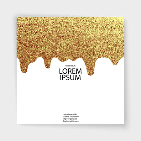 Abstract gold glitter geometric vector background. Trendy modern and stylish minimal design for poster, cover, card, broshure, banner. Cool pattern. Illustration