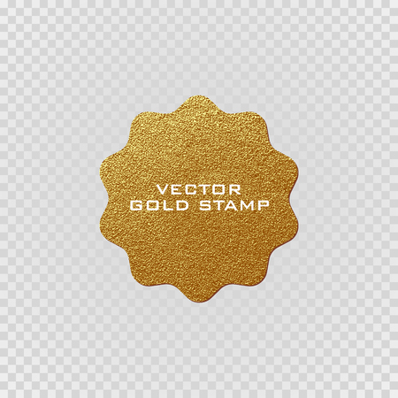 postmark: Premium quality golden label .Gold sign. Shiny, luxury badge. Best choice, price. Limited edition. Sale sticker. Logo of trendy star shape. Sunburst design elements. Gold postal stamp and postmark. Illustration