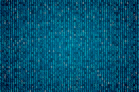 Fondo abstracto azul de la tecnología. Elemento binario del código informático. Programación de hackers, codificación, ilustración vectorial. Matriz de cortafuegos.