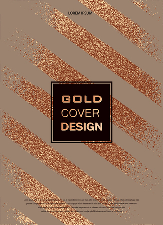 Grunge design. Copper glossy background. Metallic texture. Bronze metal. Trendy template for New Year, Wedding, Birthday, Flyers, Logo Banners Party Invitation card