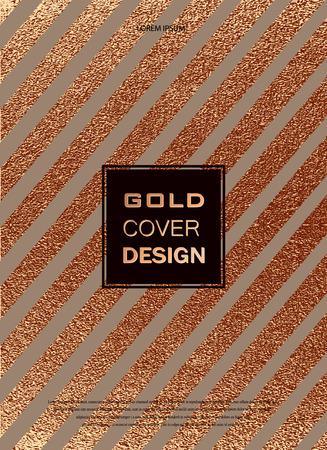 그런 지 디자인입니다. 구리 광택 배경입니다. 금속 질감입니다. 청동 금속. 트렌디 한 템플릿 새해, 결혼, 생일, 안내 물, 로고 배너 파티 초대장 카드 일러스트