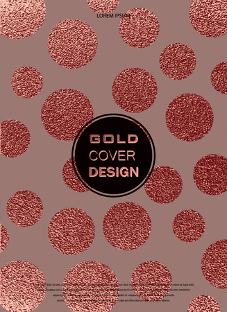 Rose quartz glossy background. Metallic texture. Gold Pink metal. Trendy template for New Year, Wedding, Birthday, Flyers, Logo Banners Party Invitation card. Grunge design. Illustration