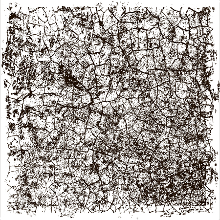 Distress, dirt texture . Vector illustration to create distressed effect. Grunge background. Pattern with cracks