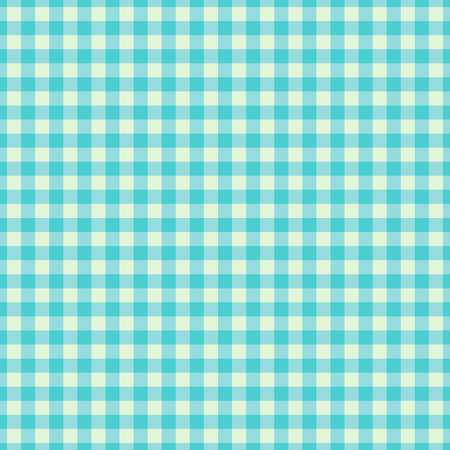 Cyan Checkered Textile products. Texture Gingham seamless pattern. Vector illustration squares or rhombus for fabric, napkin, plaid, tablecloths, towel, clothes, linen, dresses, bedding blankets quilts