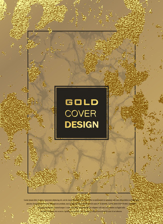 Abstract gold glitter grunge vector background. Golden trendy modern and stylish minimal design for poster, cover, card, brochure, banner. Cool pattern. Reklamní fotografie - 102796760
