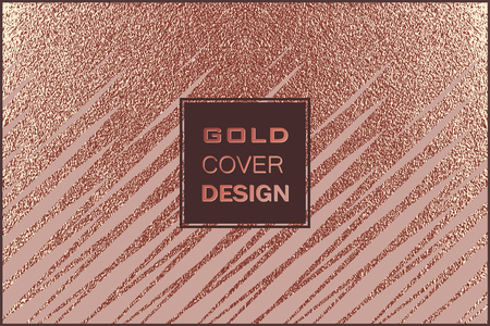 Grunge design. Copper glossy background. Metallic texture. Bronze metal. Trendy template for New Year, Wedding, Birthday, Flyers, Banners Party Invitation card